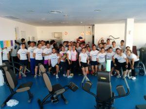 Actividades deportivas en el gimnasio de La Palma del Condado.