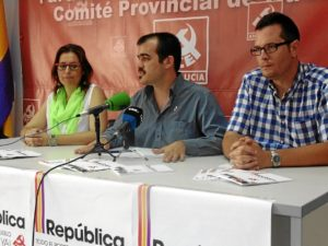 Isabel Salas, Daniel Hernando y Juan Palma