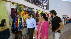 Visita del alcalde y concejales al Mercado Las Sabinas