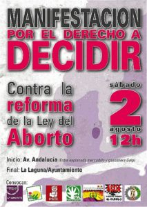 cartel por el derecho a decidir