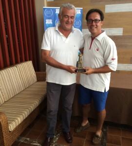 Carlos Ortega, ganador del Trofeo Colombino de golf.