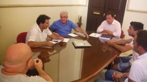 Reunión entre el Ayuntamiento de San Juan del Puerto y el CD San Juan.