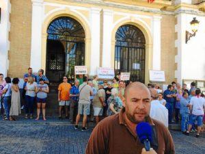 Protesta Valverde despido trabajador servicio limpieza-34