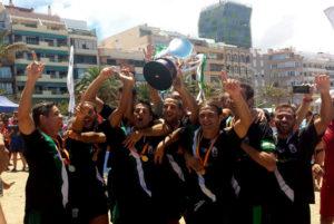 Andalucía, campeona de España de fútbol playa.