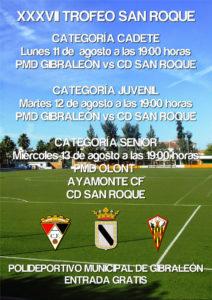 Cartel del Trofeo San Roque de fútbol en Gibraleón.