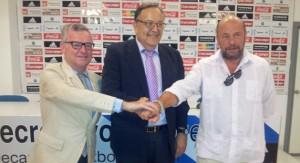 Presentación del Trofeo 125 aniversario entre el Recreativo de Huelva y el Betis.