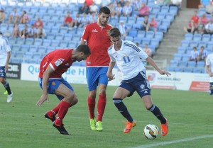 Dani Molina debutó en Segunda ante el Zaragoza. (Espínola)