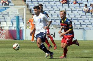 Braulio debutó como delantero ante el Llagostera. (Espínola)