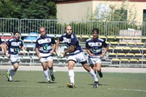 Jugadores del Recreativo Bifesa Tartessos de rugby.