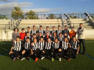 Escuela de fútbol de Paterna del Campo.