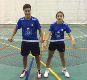 Alba Gómez y Alberto Cruzado, del CD Bádminton Huelva.