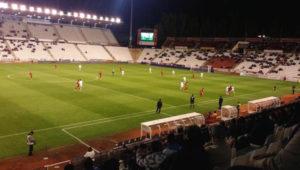 Partido de Copa del Rey entre el Albacete y el Recreativo de Huelva.