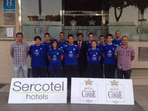 Hotel Los Condes, patrocinador del CD Bádminton Huelva.