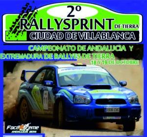Cartel del II Rally de tierra en Villablanca.
