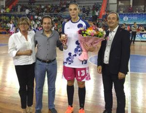 Lucila Pascua, con Rosa Espada, Manuel Remesal y Antonio de Torre.