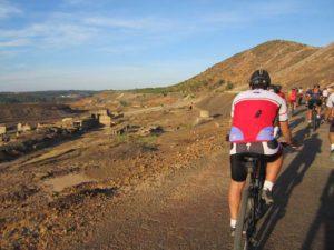 Ruta cicloturista por el río Tinto.