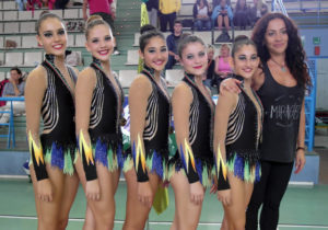 Equipo junior del Club Gimnasia Rítmica Huelva.