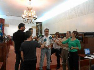 Rafael Sanchez en pleno diputacion Huelva hoy