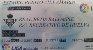 Entrada del Betis-Recreativo de Huelva.