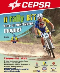 Cartel del II Rally de BTT Montemayor en Moguer.