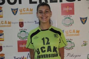 Marlene Martín, jugadora onubense del UCAM de Murcia.