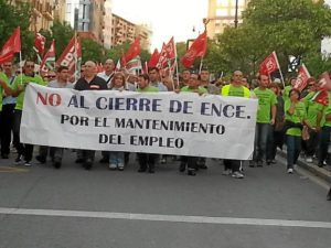 protesta contra cierre Ence