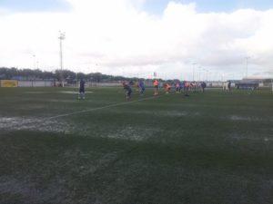Entrenamiento de la primera plantilla del Recreativo de Huelva en la Ciudad Deportiva.