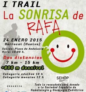 Cartel de la Carrera Benéfica en Berrocal.
