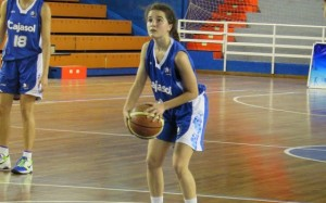 Andrea Alcántara, joven base del CB Conquero.