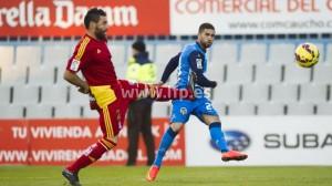 Córcoles presiona a Marcos del Sabadell.