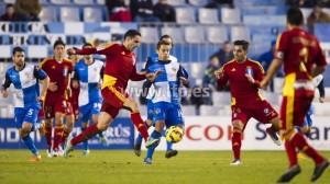 Dimas y Antonio Núñez ante el Sabadell.