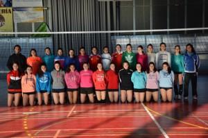 Selección onubense de voleibol cadete femenino.