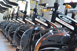 Bicicletas en el nuevo gimnasio de Palos de La Frontera.