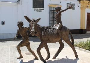 Escultura-Platero Moguer