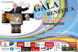 Cartel de la Gala del CD Fútbol Playa de Huelva.