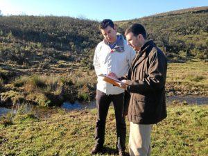 Manuel Cayuela, concejal de Medio Ambiente, en Bajondo