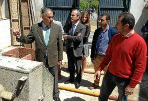 Subdelegado visita obras PROFEA en Aroche