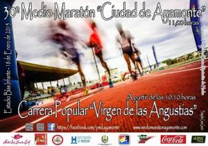 Cartel de la Media Maratón y Carrera Popular Virgen de las Angustias.