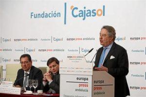 Javier Targhetta en su intervención en los Desayunos de Europa Press.