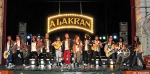Comparsa de Valverde 'Los Alakranes', en el Gran Teatro onubense.