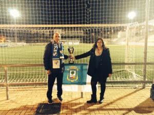 Antonio Toledo y Manoli Romero, entrenador y presidenta del Cajasol Sporting.