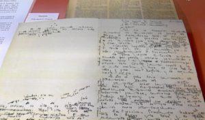 Detalle de uno de los documentos expuestos