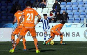 Antonio Domínguez, en su primer partido titular esta temporada ante el Alavés. (Espínola)