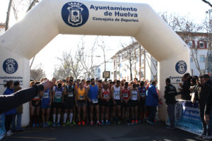 Salida de la II Media Maratón de Huelva.