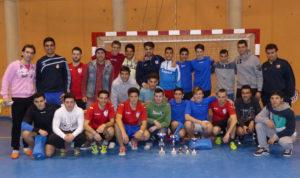 Premiados del Maratón de fútbol sala en Moguer.