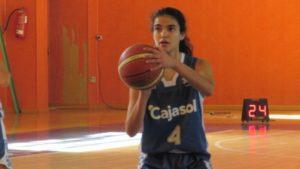 Carmen Leal, jugadora infantil del CB Conquero.