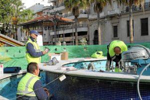 Arreglos fuente plaza Monjas (1)