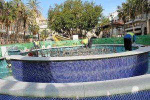 Arreglos fuente plaza Monjas