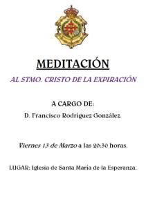 CARTEL MEDITACION