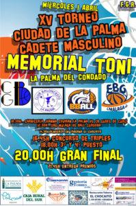 Cartel XV torneo Memorial Toni Beltrán.